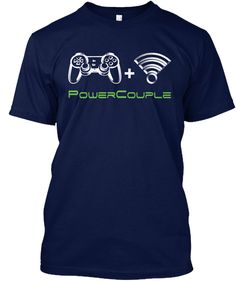 Discover Power Couple Gamer T-Shirt from Identiti Studios, a custom product made just for you by Teespring. - Of course there is no gaming without WiFi. Gamer Couple, Couple Games, Custom Design Shirts, Shirt Designs, Cute Couple Shirts, Creative T Shirt Design, Video Game T Shirts, Gamer T Shirt, Presents For Men