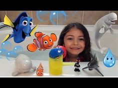 Disney Finding Dory Water Toys Playtime in Bath Surprise Toys Eggs HZHtu...