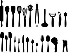 Free Kitchen Utensils Cutting Files