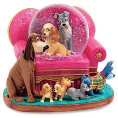 Disney Lady and the Tramp Sofa Snowglobe
