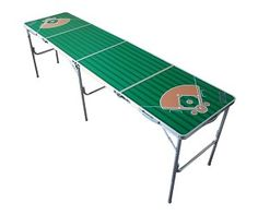 Baseball Field 2' x 8' Multi-Purpose Folding Tailgate Party Beer Pong Table