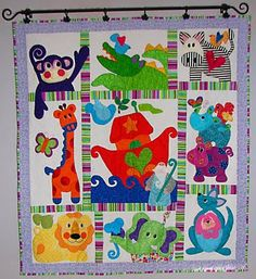Sampaguita Quilts: Noah's Ark quilt   Something like this for my nephew