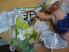 Creating 3 BILLY GOATS GRUFF props to help with retelling standards: K.RL.1, K.RL.2, K.RL.3 (key details, characters, setting and events)