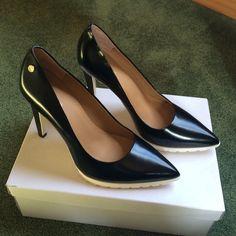 "Brigitte Dress Pump 100% Leather Platform Pump. Rubber sole. 4"" heel. Never worn. Beautiful! 💞 Calvin Klein Shoes Heels"
