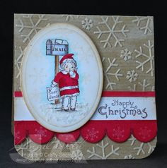 Dear Santa card by Joanne North using Christmas Mail Clear Art Stamp Set by Crafty Secrets