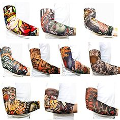 10PC Temporary Body Art Tattoo Sleeves ** Visit the image link more details. Note:It is Affiliate Link to Amazon.