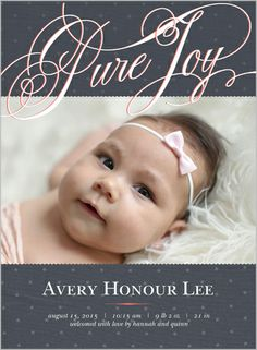 Pure Joy Girl 6x8 Stationery Card by Float Paperie | Shutterfly- $2.29