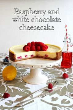 Suklaapandan keittiössä: Raspberry & white chocolate cheesecake