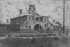 South Sydney Hospital, Joynton Avenue, Zetland. ... c 1916 ... Cooper & Gibbon Photographers ... View of South Sydney Hospital, officially opened 19th August 1913, with a horse drawn cart in front of the building ... SRC15513 / City of Sydney Archives