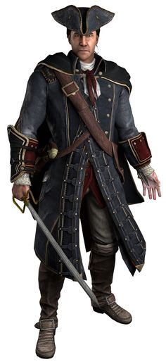 Make this amazing design-Assassin's Creed III-Haytham Kenway on your shirts,hoodies,cases and mugs.Unique Gift For Anyone. D D Characters, Fantasy Characters, Skyrim, Assassin's Creed Black, Sea Of Stars, Assassins Creed Series, Avatar, Character Inspiration, Cosplay