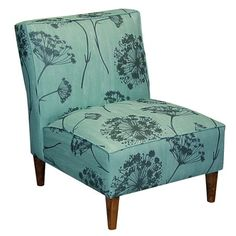 Queen Anne's Lace Slipper Chair. SOld by Joss & Main. [Queen Anne's lace, Daucus carota, Apiaceae]