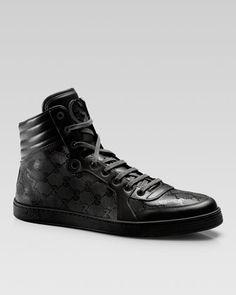 Hi-Top Interlocking-G Sneaker  by Gucci at Neiman Marcus.
