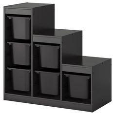 TROFAST Säilytyskokonaisuus+laatikot - IKEA