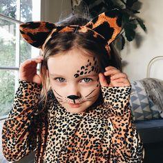 Cheetah Style Happy Halloween Eve. #kidboss #halloween #Cheetah #meow by redcapcards