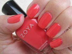 Zoya Kara #triedandtrue neon-y hot pink/red