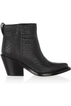 Acne | Donna textured-leather ankle boots | NET-A-PORTER.COM