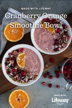 In between cozy snuggles and mindful outdoor walks, we're blending a sip-ly delicious Cranberry Orange Smoothie Bowl.