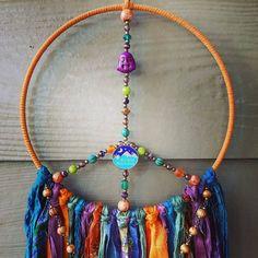 Green Candle Holders, Rear View Mirror Accessories, Spiritual Decor, Buddha Beads, Dream Catcher Boho, Czech Glass Beads, Boho Decor, Hippie Boho, Peace
