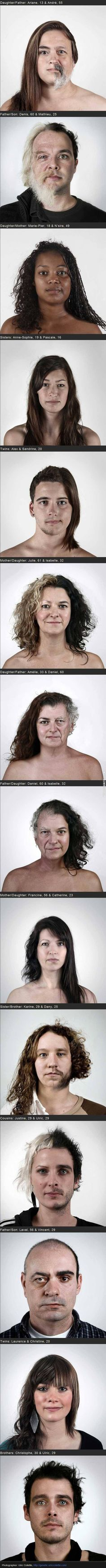 One big family – Photographic research on genetic similarities between family members by Ulric Collette. http://genetic.ulriccollette.com/