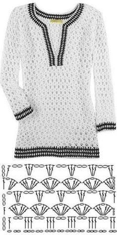 Fabulous Crochet a Little Black Crochet Dress Ideas. Georgeous Crochet a Little Black Crochet Dress Ideas. Pull Crochet, Gilet Crochet, Mode Crochet, Crochet Jacket, Freeform Crochet, Crochet Cardigan, Knit Crochet, Lace Jacket, Crochet Tops