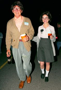 Harrison Ford and Calista Flockhart as a nerd couple