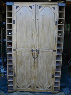 """(RS 42) Rustic Barn Liquor Cabinet.   Dimensions L 1200 x W 450 x H 2000 mm. Price R7325. Can be ordered in dimensions and colours of your choice and in """"rustic"""", """"whitewash"""" or """"shabby chic"""" finishes!  Email humanr@telkomsa.net for exclusive pricelist or call 0218632371 / 0835143382 FB: Roes & Skroef Exclusive Decor"""