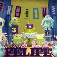Monstros s. Monster University Birthday, Monster 1st Birthdays, Monster Inc Party, Monster Birthday Parties, 1st Birthday Boy Themes, Boys First Birthday Party Ideas, 2nd Birthday, Boy Baby Shower Themes, Baby Boy Shower