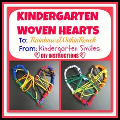 photo of: Crafted Woven Hearts by Kindergarten Children via RainbowsWithinReach