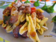 pasta con friggitelli e salsiccia