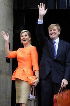 HRH King Willem-Alexander en Queen Maxima from The Netherlands.