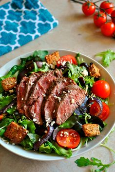 Steak Salad with Caramelized Red Onions