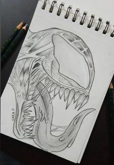 Venom drawing by Sara P