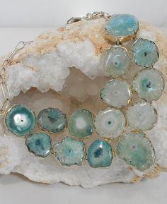 30% Off site-wide CODE: GIFT30 thru 12-31-15 Pale Green Solar Quartz Gemstones Necklace
