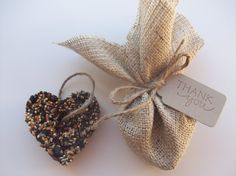 Bird seed favors - thank your guests with an eco friendly gift, edible for the birds.