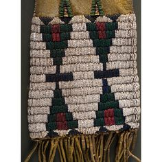 Cheyenne Beaded Hide Tobacco Bag From an Important Denver, Colorado Collector…