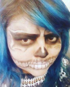 Maquillaje calavera  #makeup #halloweenmakeup #skull #calavera #parka