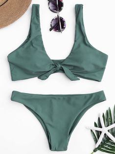 63a040fab6 ZAFUL Women Bikinis Push Up Bikini Set Swimwear Knotted Scoop Neck Female  Swimsuit Biquini Brazilian Beach