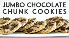 One Bowl Jumbo Chocolate Chunk Cookies (vegan + gluten-free) – Oh She Glows Vegan Sweets, Healthy Desserts, Just Desserts, Dessert Recipes, Healthy Recipes, Gluten Free Recipes, Vegetarian Recipes, Yummy Cookies, Cookies Vegan