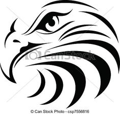 Illustration of illustration vector for great eagle Face silhouette vector art, clipart and stock vectors. Eagle Face, Eagle Head, Adler Silhouette, Animal Silhouette, Doodle Drawing, Stencil Art, Stenciling, Animal Stencil, Stencil Patterns