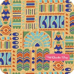 Downton Abbey Tan Papyrus Art Yardage <br/>SKU# 7620-MLN
