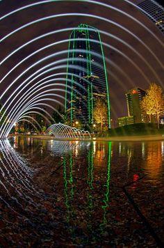 Dallas light at night!