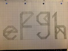 My final letters for my font struct