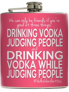 """""""Judging People"""" Flask by Liquid Courage"""