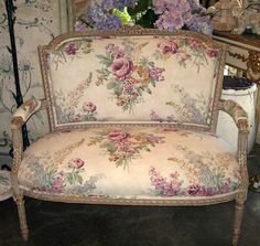 19th Century French Louis XVI Style Painted Settee/Bench