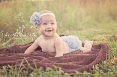 6 month old photography session. stunningly beautiful little girl. ruffle butt!!