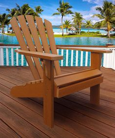 Toffee Newport Oversize Adirondack Chair