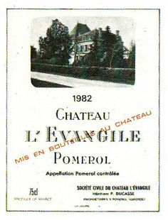 Chateau L'Evangile Pomerol 1982 Wine Label