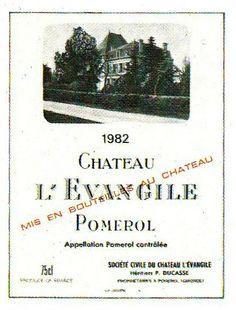 Chateau L'Evangile Pomerol 1982 Wine Label