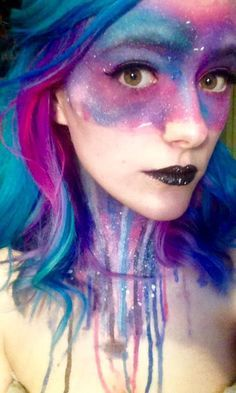 13 Out of This World Galaxy Makeup Ideas | Make-up ideas, Make-up ...