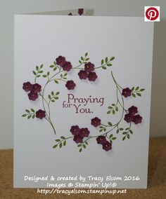 Praying for you card created with the Thoughts and Prayers Stamp set from…